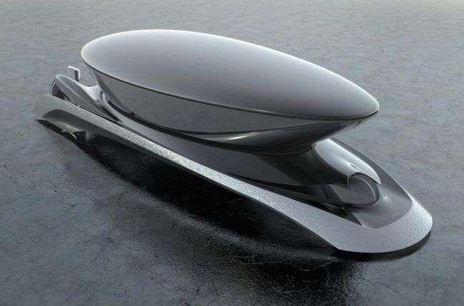 Camal показала самий незвичайний концепт електрокара з двома чорними жеребцями