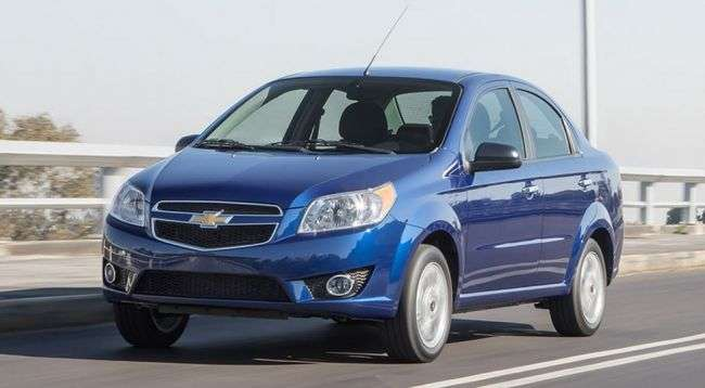 Chevrolet Aveo отримав невелике оновлення