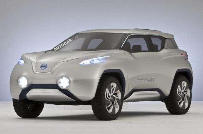 Nissan готує электрокроссовер Terra на базі нового Leaf