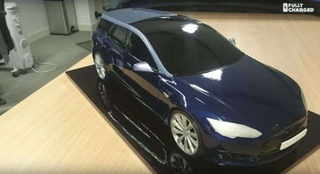 В Європі зявиться універсал на базі електромобіля Tesla Model S