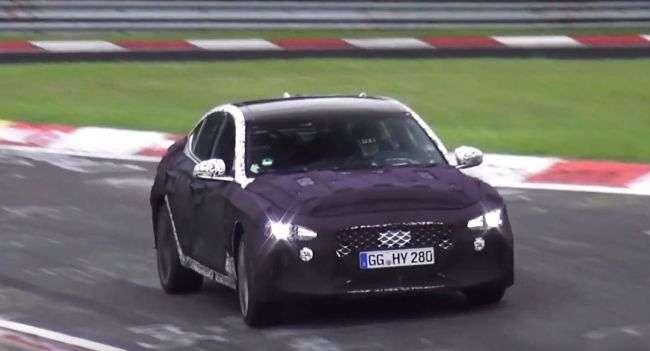 Новий преміальний седан Genesis G70 помітили на тестах