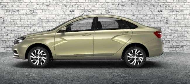 Lada Vesta Exclusive з новим кольором «Карфаген» отримала цінник