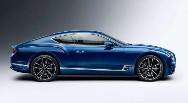 Названі рублеві ціни на новий Bentley Continental GT