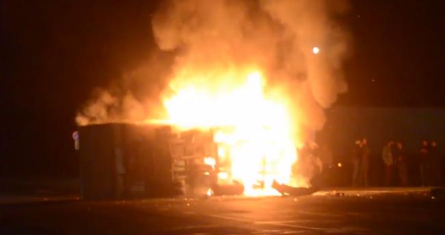На трасі під Оренбургом в результаті ДТП згоріла «ГАЗель»